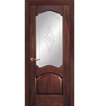 фото: Дверь ПО Сидней красное дерево, стекло Триумф из Шпон