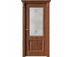 Дверь ПО QG4 Янтарь стекло 1 из Экошпон
