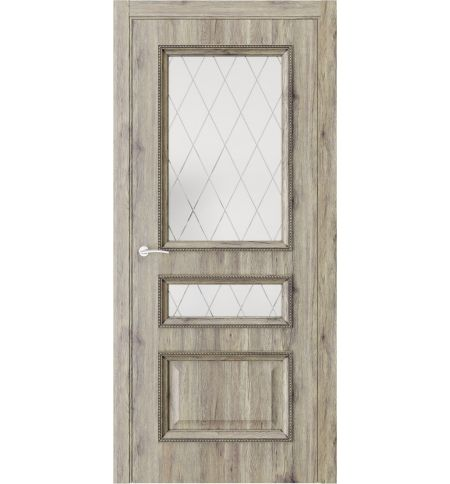 фото: Дверь ПО QG6 Дуб эссе стекло 2 из Экошпон
