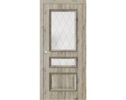 Дверь ПО QG6 Дуб эссе стекло 2 из Экошпон