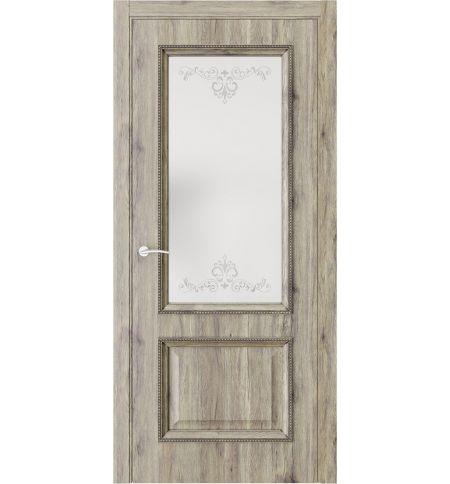 фото: Дверь ПО QG4 Дуб эссе стекло 1 из Экошпон