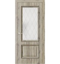 фото: Дверь ПО QG4 Дуб эссе стекло 2 из Экошпон