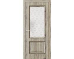 Дверь ПО QG4 Дуб эссе стекло 2 из Экошпон