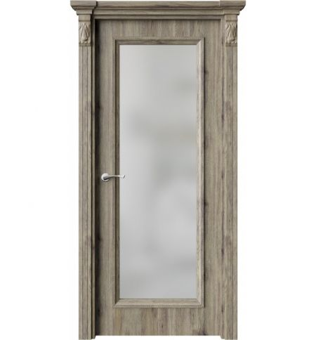 фото: Дверь ПО QG2 Дуб эссе стекло белое из Экошпон
