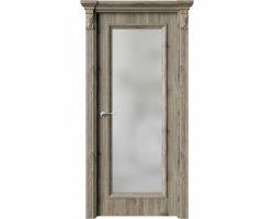 Дверь ПО QG2 Дуб эссе стекло белое из Экошпон