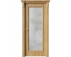 Дверь ПО QG2 Дуб миэли стекло белое из Экошпон