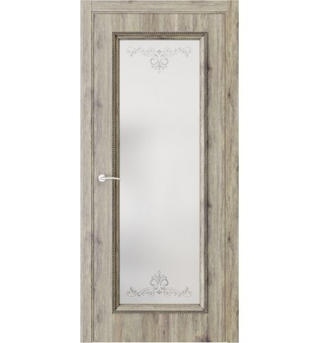 фото: Дверь ПО QG2 Дуб эссе стекло 1 из Экошпон