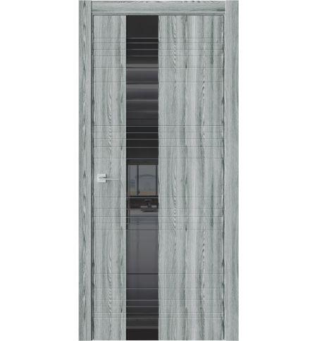 фото: Дверь ПО W1 Клен грей стекло черное из Экошпон