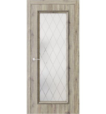 фото: Дверь ПО QG2 Дуб эссе стекло 2 из Экошпон