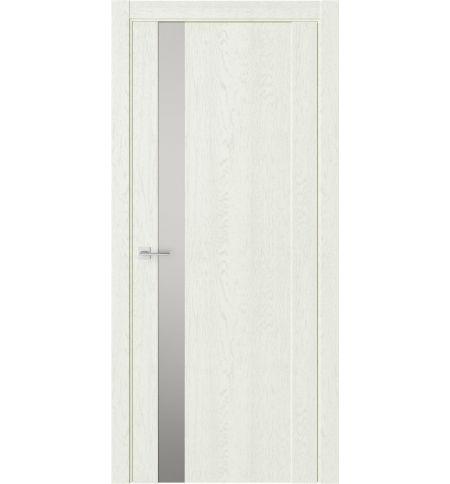 фото: Дверь ПО F28 Дуб монтана стекло зеркало-графит из Экошпон