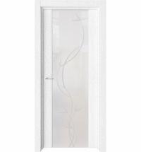 фото: Дверь ПО Рим Дуб винта стекло белое элегант из Экошпон