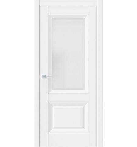 фото: Дверь ПО PL4F Белый стекло 1 из Экошпон