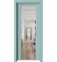 фото: Дверь ПО Рим Дуб лазурный зеркало из Экошпон