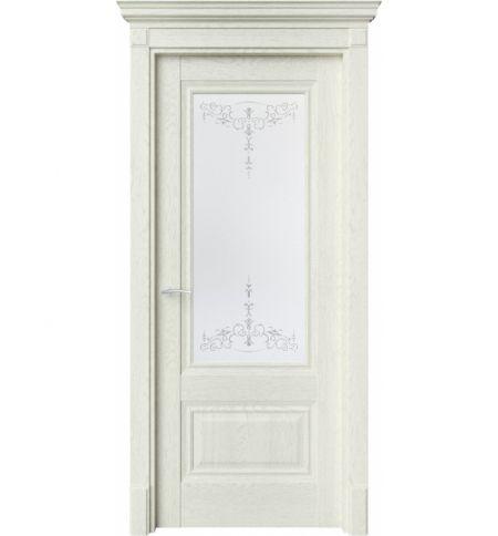 фото: Дверь ПО CH8 Дуб монтана белое стекло 1 из Экошпон