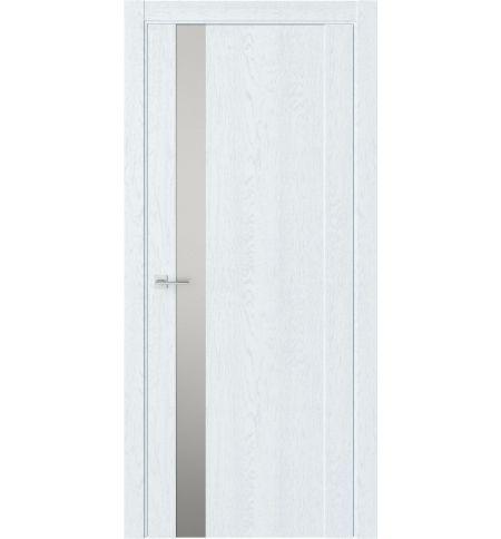фото: Дверь ПО F28 Дуб сатин стекло зеркало-графит из Экошпон