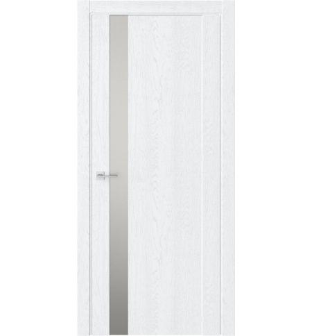 фото: Дверь ПО F28 Дуб винта стекло зеркало-графит из Экошпон