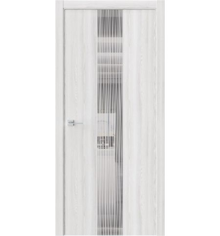 фото: Дверь ПО Экзотика 6E Клен айс стекло зеркало графит из Экошпон