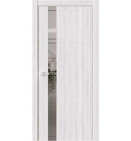 фото: Дверь ПО EVO1 Клен айс стекло зеркало-графит из Экошпон