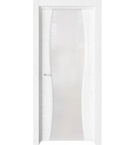 фото: Дверь ПО Милан Дуб винта стекло белое из Экошпон