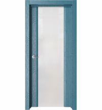 фото: Дверь ПО Рим Дуб ривер стекло белое из Экошпон