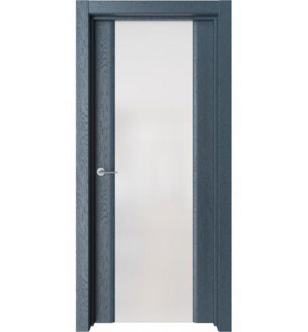 фото: Дверь ПО Рим Дуб нова стекло белое из Экошпон