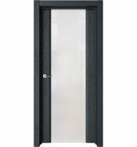 фото: Дверь ПО Рим Дуб неро стекло белое из Экошпон