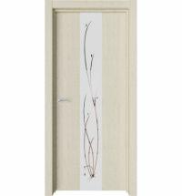 фото: Дверь ПО Экзотика 5 Дуб мелинга стекло зеркало из Экошпон