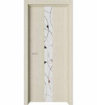 фото: Дверь ПО Экзотика 1 Дуб мелинга стекло зеркало из Экошпон