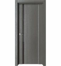 фото: Дверь ПО Рим 1 Дуб россо стекло черное из Экошпон
