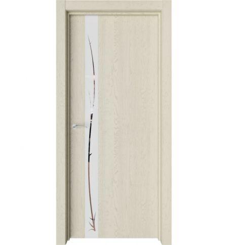 фото: Дверь ПО Экзотика 4 Дуб мелинга стекло зеркало из Экошпон