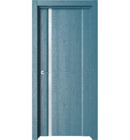 фото: Дверь ПО Рим 1 Дуб ривер стекло белое из Экошпон