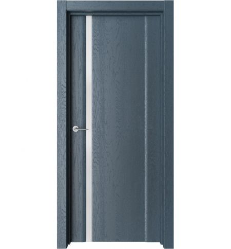 фото: Дверь ПО Рим 1 Дуб нова стекло белое из Экошпон