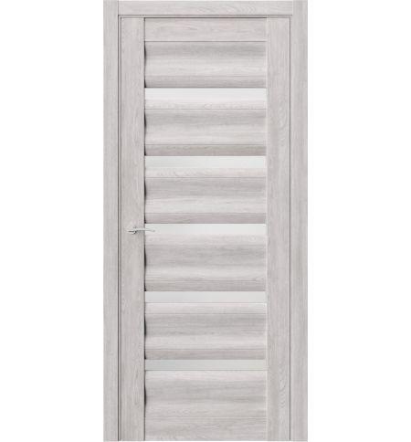 фото: Дверь ПО QR1 Дуб оксфорд стекло белое из Экошпон