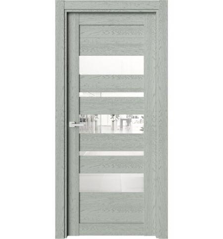 фото: Дверь ПО O19 Дуб эдельвейс стекло сияние из Экошпон