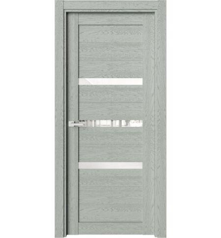 фото: Дверь ПО O2 Дуб эдельвейс стекло сияние из Экошпон