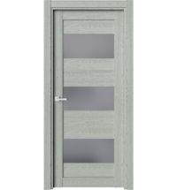 фото: Дверь ПО O8 Дуб эдельвейс стекло графит из Экошпон
