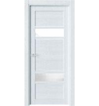 фото: Дверь ПО O22 Дуб сатин стекло сияние из Экошпон