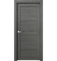 фото: Дверь ПО O6 Дуб россо стекло черное из Экошпон