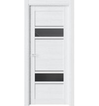 фото: Дверь ПО O22 Дуб винта стекло черное из Экошпон