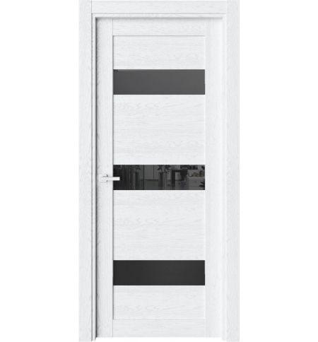 фото: Дверь ПО O41 Дуб винта стекло черное из Экошпон