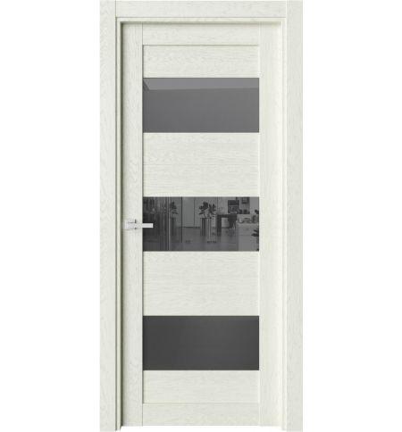 фото: Дверь ПО O8 Дуб монтана стекло черное из Экошпон