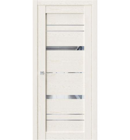 фото: Дверь ПО QZ2 Белое золото зеркало из Экошпон