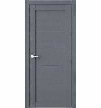 фото: Дверь ПГ RL1 Сильвер стекло графит из Экошпон