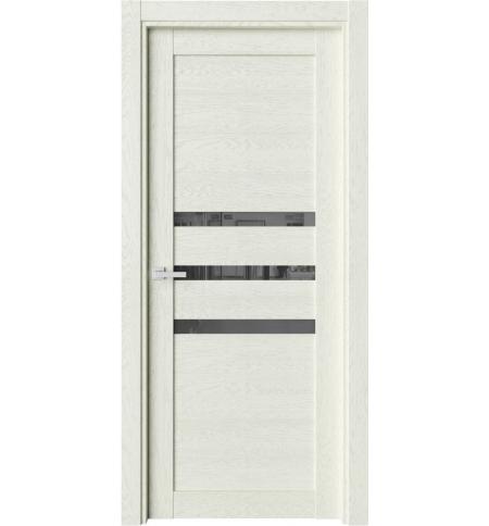 фото: Дверь ПО O3 Дуб монтана стекло черное из Экошпон