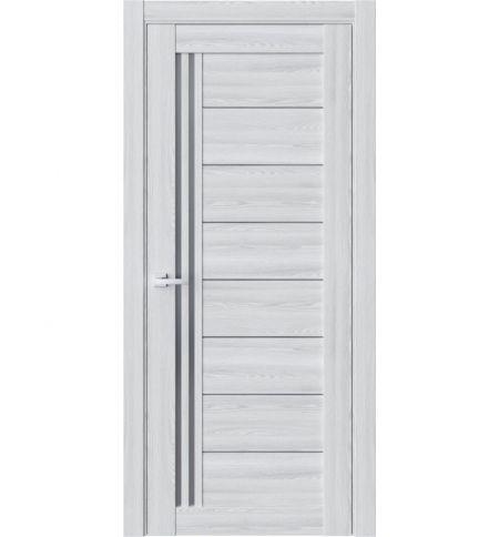 фото: Дверь ПО R58 Клен айс стекло графит из Экошпон