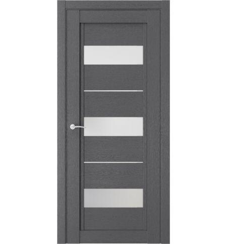 фото: Дверь ПО QP7 Сильвер стекло белое из Экошпон