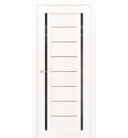 фото: Дверь ПО Q33 Лиственница белая стекло черное из Экошпон