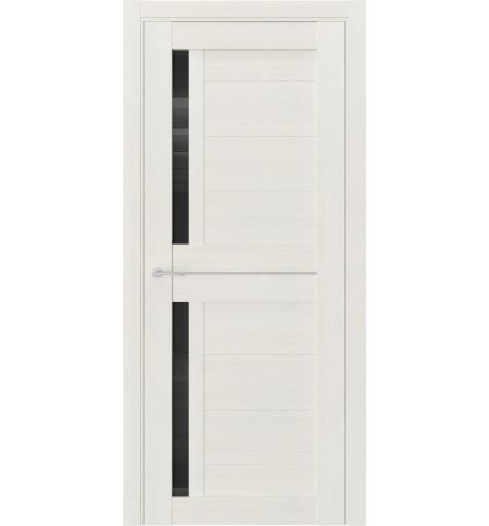 фото: Дверь ПО Q1 Лиственница белая стекло черное из Экошпон