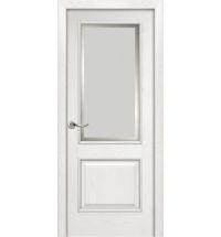 фото: Дверь ПО Твинс ясень бланко, стекло Фацет из Шпон