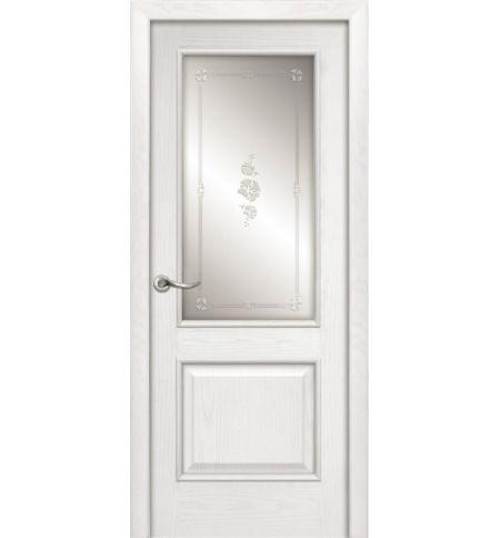 фото: Дверь ПО Твинс ясень бланко, стекло Поляна из Шпон
